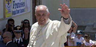 Papa Francesco a Cassano allo Ionio, giugno 2014